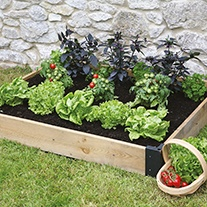 Wooden Raised Bed Base