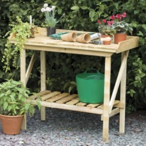 Potting Wooden Garden Bench