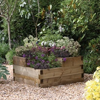 Wooden Tiered Raised Bed - Caledonian