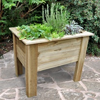 Deep Root Wooden Garden Planter 1m