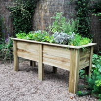 Deep Root Wooden Garden Planter 1.8m