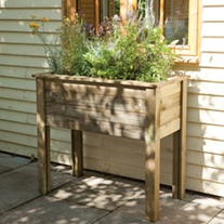 Wooden Planter Table - Bamburgh