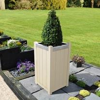 Slender Wooden Garden Planter - 75cm