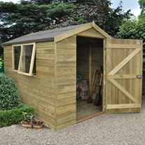 Pressure Treated Apex Shed 8 x 6
