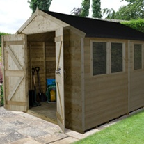 Double Door Apex Shed 10x8