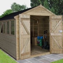 Double Door Apex Shed 12x8