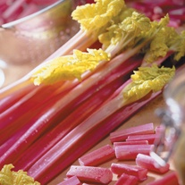 Rhubarb Red Champagne Crowns
