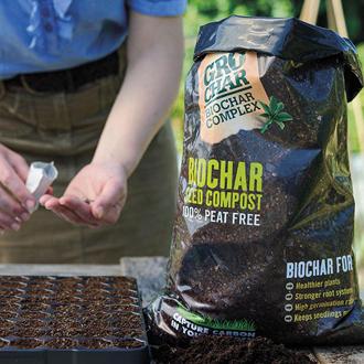 GroChar Carbon Gold Seed Compost 8ltr bag