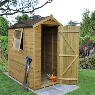 Pressure Treated Apex Shed 6 x 4