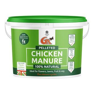 6X Chicken Manure Fertiliser 8kg