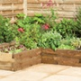 Wooden Corner Raised Bed - Caledonian
