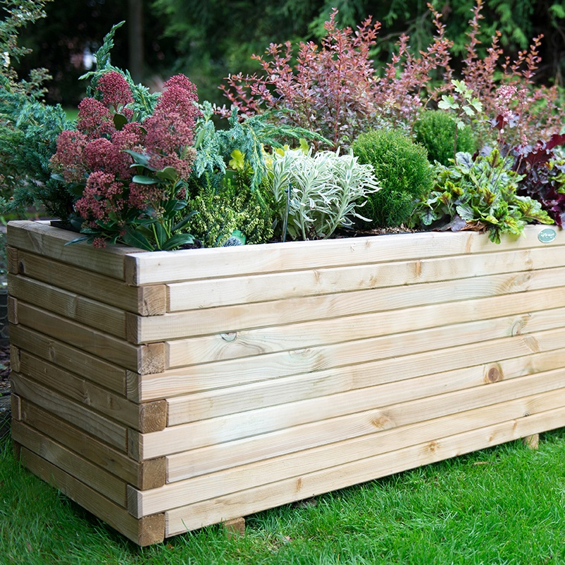 Wooden Garden Planter- Lomello From D.T. Brown Seeds