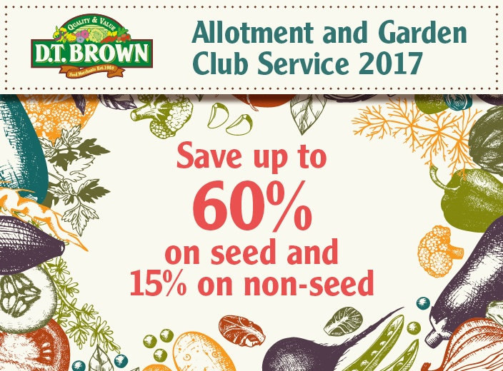 D.T.Brown Allotment and Gardening Club Discounts