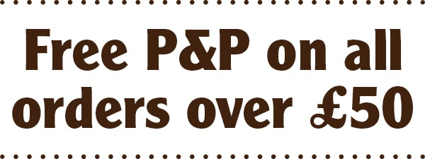 Free P&P on orders over £50