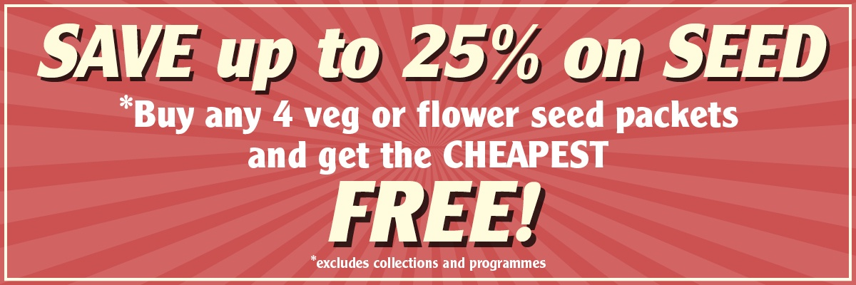 SAVE 25 Percent On Seed
