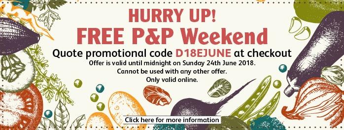 free postage weekend