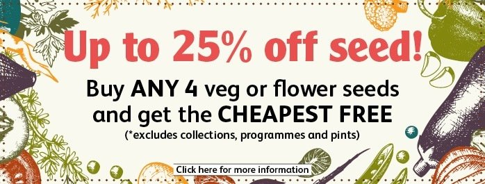 Up to 25% off seed, buy 4 get the cheapest free
