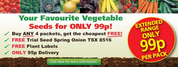 99p Vegetable Seeds